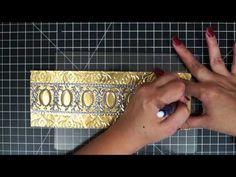DIY Christmas Gift Ideas: Metal Embossed Pillar Candle Sleeves - YouTube