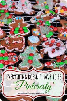 "25 Days of Christmas Fun: Everything Doesn't Have to be ""Pinteresty"" - Time 2 Save Workshops"