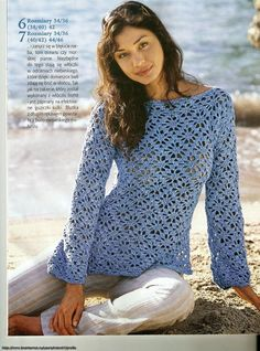 Any inspirations Croche with Lucy: Blouse.