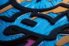 Papergraffiti #2 / 40x30cm / Papercutting #papercutting #art #handmade #street #graffiti #type #paper #neur_one