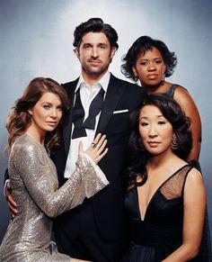 Ellen Pompeo (Meredith Grey) , Patrick Dempsey (Dr. Derek Shepherd) , Chandra Wilson (Miranda Bailey) , & Sandra Oh (Cristina Yang) - Grey's Anatomy