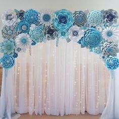 #paperflowers #floresdepapel #handmade #hechoamano #paper #paperflorist #papercraft #quinceañera #partydecoration #wedding #babyshower #paperflowersbackdrop #cinderella #cinderellaparty #cinderellatheme #frozen #frozenparty