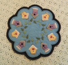 Summer Rental Penny Rug/Candle Mat DIGITAL PATTERN