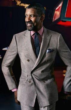 Men We Love - Denzel Washington Men In Black, Gentleman Mode, Gentleman Style, Sharp Dressed Man, Well Dressed Men, What To Wear Today, How To Wear, Outfits Hombre, Denzel Washington