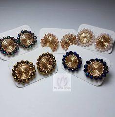 Wire Jewelry Designs, Diy Jewelry, Beaded Jewelry, Jewelery, Jewelry Making, Wire Earrings, Earrings Handmade, Handmade Jewelry, Tatting Jewelry