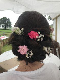 Long Hair Styles by Jess Mac Wedding Hair And Makeup, Hair Makeup, Dark Hair, Diy Wedding, Wedding Hairstyles, Braids, Mac, Blush, Long Hair Styles