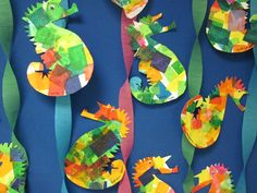 No need for something expensive to get creative with craft activities. Paper plate can be formed into hundreds of fancy crafts for kids. Check out these 20 paper plate craft ideas! Seahorse Crafts, Seahorse Art, Seahorses, Paper Mache Projects, Paper Plate Crafts For Kids, School Art Projects, Kindergarten Art, Art Lesson Plans, Art Activities