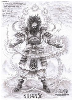 ...  known as Takehaya Susanoo no Mikoto, the shinto god of the sea and storm…