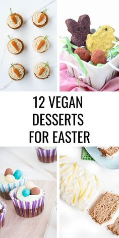 12 Vegan Easter Desserts - All of the recipes are plant-based, dairy-free, and egg-free. Easter Appetizers, Easter Desserts, Easter Recipes, Holiday Desserts, Easter Treats, Holiday Recipes, Dessert Simple, Great Desserts, Healthy Dessert Recipes