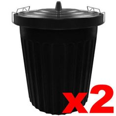 Extra Large Black Plastic Dustbin Kitchen