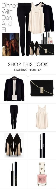 """""""Dinner with Danielle and Eleanor"""" by onedirectionimagineoutfits99 ❤ liked on Polyvore featuring River Island, Helmut by Helmut Lang, H&M, Giuseppe Zanotti, Payne, shu uemura, Topshop and NARS Cosmetics"""