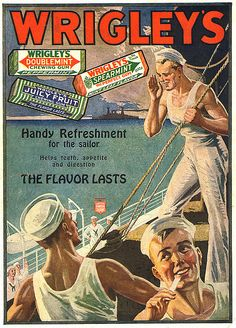 Wrigley's Sailors -- I think they may have been the inspiration for the Village People.