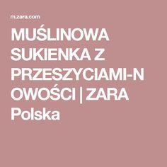 MUŚLINOWA SUKIENKA Z PRZESZYCIAMI-NOWOŚCI | ZARA Polska