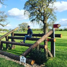 Look at this cross-country jump! It's massive! And some still argue that riding is not a sport!
