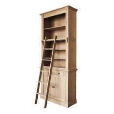 b cherregal aus holz mit leiter b 200 cm wei amandine jetzt bestellen unter https moebel. Black Bedroom Furniture Sets. Home Design Ideas