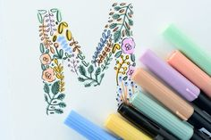 How to draw a complete floral alphabet by hand