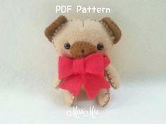My Little Pet Puppy Pug Plush - PDF Pattern Instant Download
