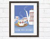Kitchen Art Retro Tea / Coffee  print, Fancy a drop. $24,00, via Etsy.