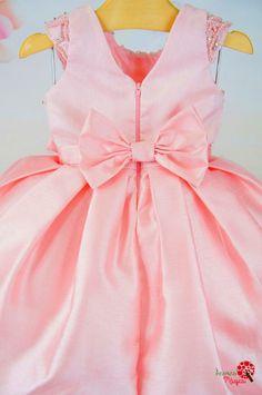 Vestido Infantil de Festa Rosa Real Petit Cherie