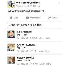 Haikyuu Facebook 1/2                                                                                                                                                                                 More