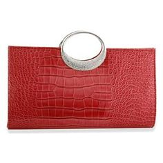£19.99  J Francis Luxurious Red Cluth Bag with White Austrian Crystal