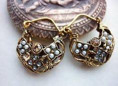 Risultati immagini per orecchini antichi perle