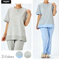 [ cotton smooth ] ☆ストライプ パジャマ ペアセット