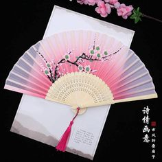 Hand Held Fan, Hand Fans, Warrior Outfit, Chinese Fans, Small Fan, Japanese Wedding, Back Neck Designs, Japanese Aesthetic, Pretty Asian