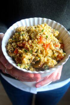 As Minhas Receitas: Salada de Quinoa com Cogumelos, Tomate e Queijo da Ilha (receita também em video)