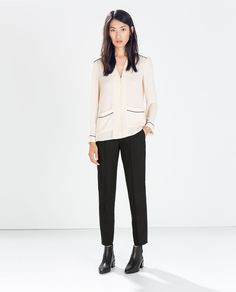 Image 1 of DOUBLE SLIT TROUSERS from Zara