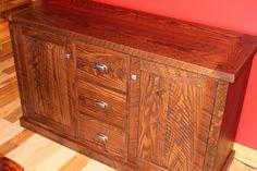 Barbini rustic oak cabinet made from customer lumber - non epoxy top