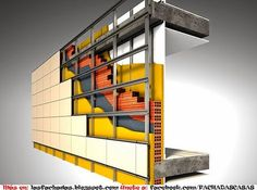 A Revolution In Building Pretty Interesting Wall & Facade Solution - Architecture & Design Building Systems, Building Facade, Building Materials, Building A House, Casa Bunker, Detail Architecture, Construction Drawings, Arch Model, D House