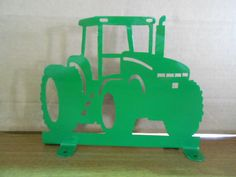 Modern John Deere Color Tractor Mailbox Topper by IowaMetalArt, $22.50