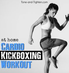 50 Minute At-Home Cardio Kickboxing Workout - this one is killer! Tone-and-Tighten.com