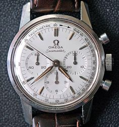 Vintage Omega Seamaster Chronograph (ref with cal. 321 movement based on Lemania cal. Omega Seamaster Chronograph, Omega Seamaster Automatic, Omega Speedmaster, Vintage Omega, Omega Railmaster, Luxury Watches For Men, Beautiful Watches, Cool Watches, Lux Watches