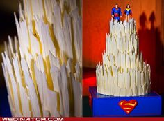 Superman Wedding Cake - I wouldn't have it but is very cool :)
