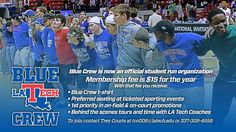 Calling all LA Tech Students! We need you! Join the Blue Crew today and lets continue to have the best home field and home court advantage in Conference USA! #WeAreLATech