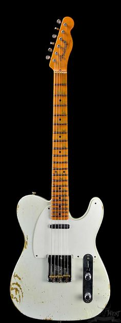 "Fender 1952 Telecaster ""V"" Neck Heavy Relic Olympic White - Preowned - Wild West Guitars"