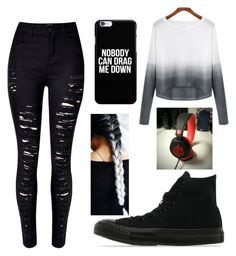 A fashion look from February 2016 featuring white sweater, skinny jeans and flat shoes. Browse and shop related looks. Jeans And Flats, White Sweaters, Women's Clothing, Converse, Fashion Looks, Skinny Jeans, Female, Clothes For Women, Woman