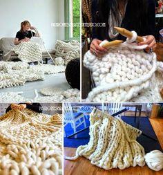 Tejido gigante: una tendencia mundial | Crochet y dos agujas