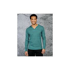 Crazy Stripe V Neck T Shirt Hoodie | Threads for Thought Official... ($44) via Polyvore
