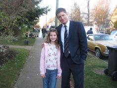 On the set of Supernatural with Jensen Ackles.
