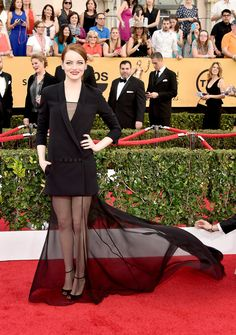 Emma Stone in a Dior Haute Couture dress at the SAG Awards.