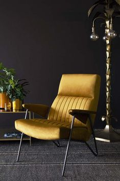 Refined and sophisticated, the Executive Ochre Velvet Armchair will add a colour pop to your home office, living room, hallway and bedrooms.