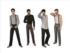 Plumb Bob Keep <> The Sims 2 Middle Ages • View topic - Buttoned Forge Shirt + Alpha Suspenders Separates