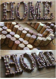 DIY Wine Corks / DIY con corchos de by Mamirrachadas ( García) Más Beer Crafts, Wine Cork Crafts, Wine Bottle Crafts, Wine Cork Projects, Diy Craft Projects, Diy And Crafts, Wine Corker, Cork Art, Wine Craft