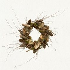 Winter bounty wreath. Birch, huckleberry, pinecones, lichen, moss. by jenniferET