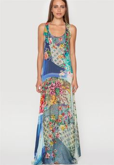 Patchwork Maxi Dress by Johnny Was