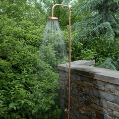 Copper Outdoor Shower in Outdoor Living FURNITURE Outdoor Accents Beach+Pool at Terrain