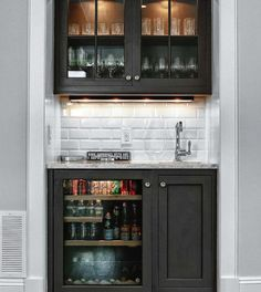21 Dining Room Built-In Cabinets and Storage Design | Bar carts, Bar ...